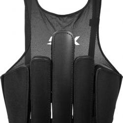 STX Cell X Lacrosse Rib Pads - Rear view with the extended padding